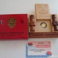 Monedas Juan Carlos I: 5000 PESETAS -1/2 ESCUDO - 2000 CAROLUS IMPERATOR * ORO * FNMT. Lote 155373982