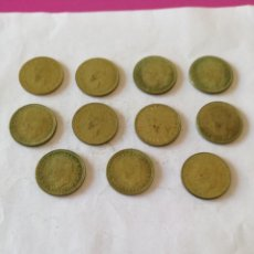 Monedas Juan Carlos I: LOTE DE 11 MONEDAS DE 1 PESETA DE JUAN CARLOS I 1975*1976. Lote 155444154