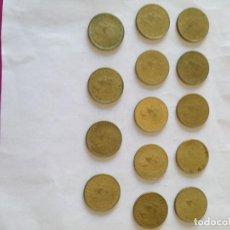 Monedas Juan Carlos I: LOTE DE 14 MONEDAS DE 1 PESETA DE JUAN CARLOS I 1975*1979. Lote 155444850
