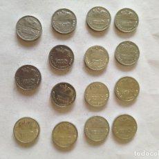 Monedas Juan Carlos I: LOTE DE 15 MONEDAS DE 1 PESETA DE JUAN CARLOS I, EMISIÓN NUEVO DISEÑO, DE 1992.. Lote 155458330