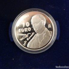 Monedas Juan Carlos I: ESPAÑA. 2002. 10 EUROS. PRIMER CENTENARIO DEL NACIMIENTO DE LUIS CERNUDA. PLATA. Lote 156066030