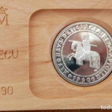 Monedas Juan Carlos I: ESPAÑA- 1990. ECU. PLATA. Lote 156897162