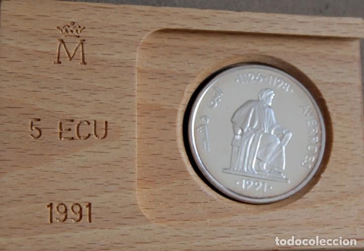 ESPAÑA. 1991. 5 ECU. AVERROES. PLATA (Numismática - España Modernas y Contemporáneas - Juan Carlos I)