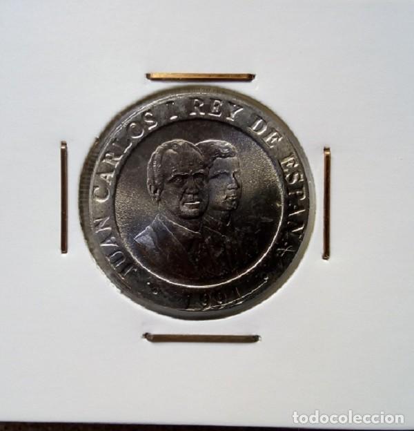 Monedas Juan Carlos I: ESPAÑA - 200 PESETAS DE 1991 - SIN CIRCULAR SACADA DE CARTUCHO ORIGINAL, SI QUIERES, ENCARTONADA - Foto 3 - 158331774