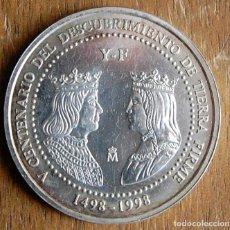 Monedas Juan Carlos I: ESPAÑA. 1998. 3 EURO. V CENTENARIO DEL DESCUBRIMIENTO DE TIERRA FIRME. PLATA. SC. Lote 159420738