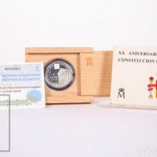 Monedas Juan Carlos I: ESTUCHE FNMT - XX ANIVERSARIO CONSTITUCIÓN - 1998 - 1000 PESETAS - PLATA 925 MILÉSIMAS - FDC/PROOF. Lote 159617778