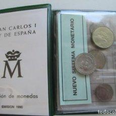 Monedas Juan Carlos I: JUAN CARLOS I * SERIE NUMISMATICA 1990 * CARTERA OFICIAL * TIN. Lote 165722865