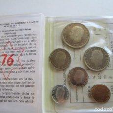 Monedas Juan Carlos I: JUAN CARLOS I * SERIE NUMISMATICA 1976 * CARTERA OFICIAL * TIN. Lote 159912830