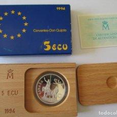 Monedas Juan Carlos I: JUAN CARLOS I * 5 ECU 1994 * CERVANTES-DON QUIJOTE * PLATA. Lote 160890150