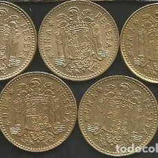 Monedas Juan Carlos I: ESPAÑA 1975 (VER ESTRELLAS) - 1 PESETA - KM 806 - LOTE 5 MONEDAS CIRCULADAS. Lote 161236386