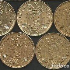 Monedas Juan Carlos I: ESPAÑA 1975 (VER ESTRELLAS) - 1 PESETA - KM 806 - LOTE 5 MONEDAS CIRCULADAS. Lote 161236450