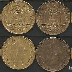 Monedas Juan Carlos I: ESPAÑA 1975 (VER ESTRELLAS) - 1 PESETA - KM 806 - LOTE 4 MONEDAS CIRCULADAS. Lote 161236634
