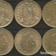 Monedas Juan Carlos I: ESPAÑA 1975 (VER ESTRELLAS) - 1 PESETA - KM 806 - LOTE 3 MONEDAS CIRCULADAS. Lote 161236858