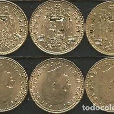 Monedas Juan Carlos I: ESPAÑA 1975 (VER ESTRELLAS) - 1 PESETA - KM 806 - LOTE 3 MONEDAS CIRCULADAS. Lote 161236930