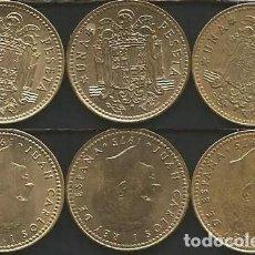 Monedas Juan Carlos I: ESPAÑA 1975 (VER ESTRELLAS) - 1 PESETA - KM 806 - LOTE 3 MONEDAS CIRCULADAS. Lote 161236998