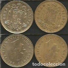 Monedas Juan Carlos I: ESPAÑA 1975 *76 Y *80 - 1 PESETA - KM 806 - LOTE 2 MONEDAS CIRCULADAS. Lote 161237474