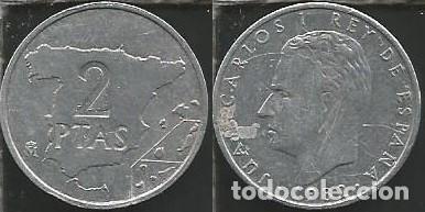 ESPAÑA 1982 - 2 PESETAS - KM 822 - CIRCULADA (Numismática - España Modernas y Contemporáneas - Juan Carlos I)