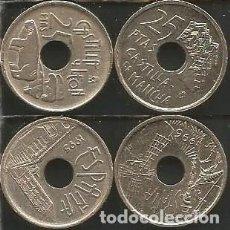 Monedas Juan Carlos I: ESPAÑA 1995 Y 1996 - 25 PESETAS - KM 948 Y 962- LOTE 2 MONEDAS CIRCULADAS. Lote 161264826