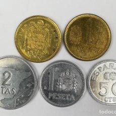Monedas Juan Carlos I: 229 MONEDAS. 50 CÉNTIMOS DE PESETA. 1 PESETA. 2 PESETAS. JUAN CARLOS I. ESPAÑA . Lote 161361774