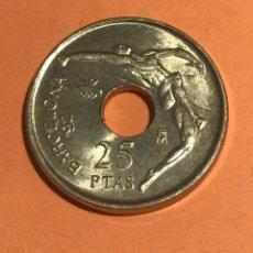 Monedas Juan Carlos I: MONEDA DE 25 PESETAS 1990 SALTADOR. SIN CIRCULAR. Lote 161450640