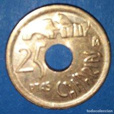 Monedas Juan Carlos I: 25 PESETAS - CANARIAS - 1992. Lote 161594366