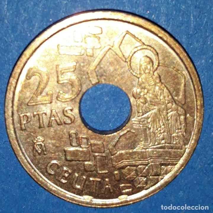 Monedas Juan Carlos I: 25 PESETAS - CEUTA 1998 - Foto 2 - 161594650