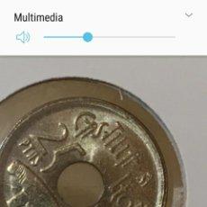 Monedas Juan Carlos I: MONEDA 25 PTAS. AÑO 1995. ERROR. CASTILLA LEÓN ( SIN LA Y ) AUTENTICA. Lote 114329343