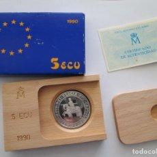 Monedas Juan Carlos I: JUAN CARLOS I * 5 ECU 1990 * ALFONSO X EL SABIO * PLATA. Lote 163524818