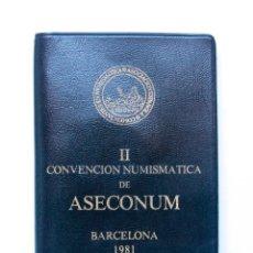 Monedas Juan Carlos I: N101.- II CONVENCION NUMISMATICA ASECONUM.- BARCELONA 1981.- CARTERA Y MEDALLA. Lote 165348922