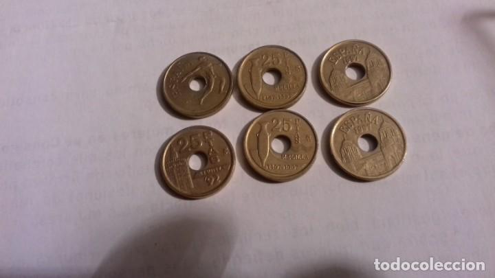LOTE DE MONEDAS DE 25 PESETAS LAS MONEDAS CON AGUJERO (Numismática - España Modernas y Contemporáneas - Juan Carlos I)
