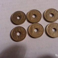 Monedas Juan Carlos I: LOTE DE MONEDAS DE 25 PESETAS LAS MONEDAS CON AGUJERO. Lote 165901290