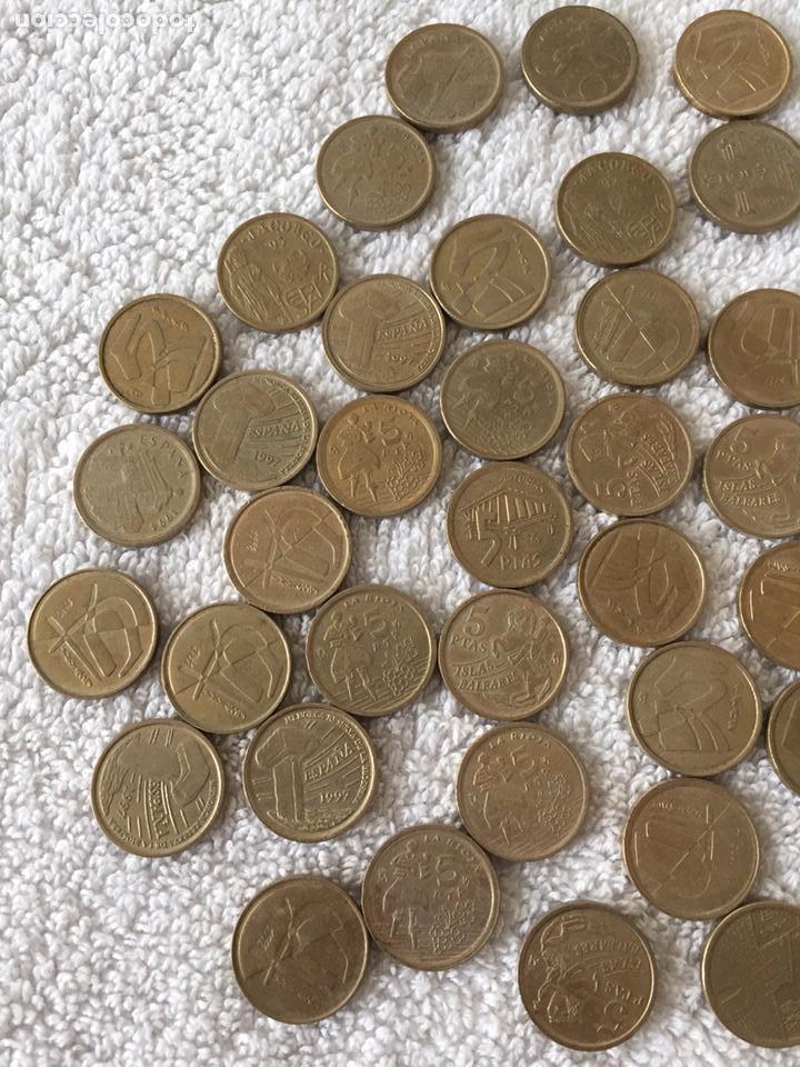Monedas Juan Carlos I: Lote de monedas de pesetas variadas - Foto 2 - 166092660