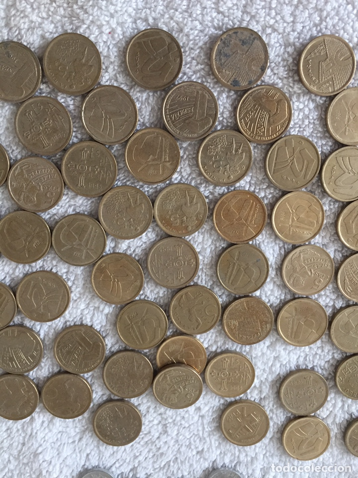 Monedas Juan Carlos I: Lote de monedas de pesetas variadas - Foto 3 - 166092660