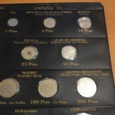 Monedas Juan Carlos I: HOJA BEUMER ESPAÑA 1997 SIN CIRCULAR DESDE 1 PESETA A 500 PESETAS. Lote 166287898