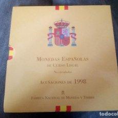 Monedas Juan Carlos I: CARTERA DE MONEDAS ACUÑADAS EN 1998. FNMT. Lote 218543257