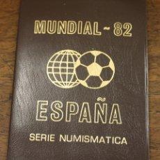 Monedas Juan Carlos I: MUNDIAL 82 ESPAÑA. SERIE NUMISMATICA. 6 MONEDAS ESTRELLA 80. EN CARPETILLA. Lote 166521366