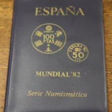 Monedas Juan Carlos I: MUNDIAL 82 ESPAÑA. SERIE NUMISMATICA. 6 MONEDAS ESTRELLA 80. EN CARPETILLA. Lote 166521786