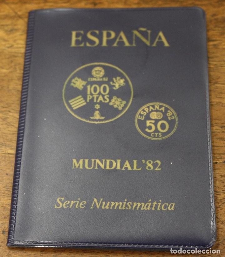 MUNDIAL 82 ESPAÑA. SERIE NUMISMATICA. 6 MONEDAS ESTRELLA 80. EN CARPETILLA (Numismática - España Modernas y Contemporáneas - Juan Carlos I)