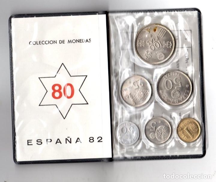 Monedas Juan Carlos I: MUNDIAL 82 ESPAÑA. SERIE NUMISMATICA. 6 MONEDAS ESTRELLA 80. EN CARPETILLA - Foto 2 - 166522049