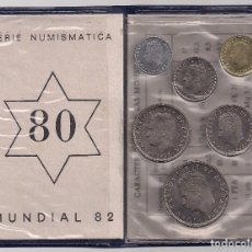 Monete Juan Carlos I: ESPAÑA - JUAN CARLOS I - CARTERA CON SERIE DE 6 MONEDAS MUNDIAL '82 SIN CIRCULAR. Lote 168024080