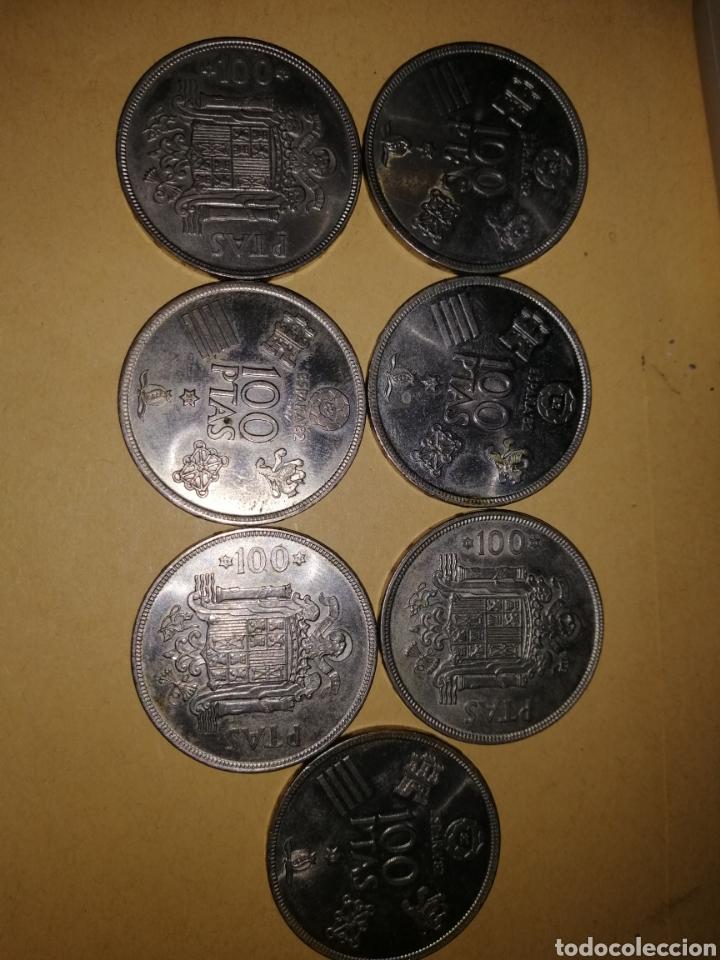 MONEDAS 100 PESETAS JUAN CARLOS 1, 4 DEL MUNDIAL 1982 *1980 (Numismática - España Modernas y Contemporáneas - Juan Carlos I)