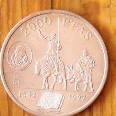 Monedas Juan Carlos I: MONEDA DE PLATA 2000 PESETAS. 1997. EL QUIJOTE DE LA MANCHA. REY JUAN CARLOS.. Lote 168947148