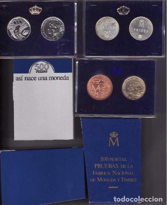 ESPAÑA ESTUCHE 500 PESETAS 1987 PROOF XXV ANIVERSARIO BODA REYES DE ESPAÑA (Numismática - España Modernas y Contemporáneas - Juan Carlos I)