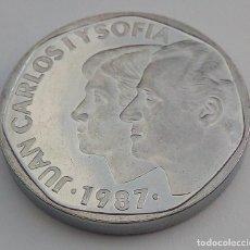 Monedas Juan Carlos I: JUAN CARLOS I - 500 PESETAS 1987*87 - PRUEBA EN ACERO - FNMT. Lote 169734888