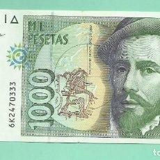 Monedas Juan Carlos I: ESPAÑA BILLETE DE 1000 PESETAS 1992. PIZARRO. SERIE 6K. Lote 169979324