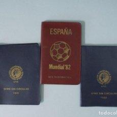 Monedas Juan Carlos I: 3 CARTERAS MONEDAS MUNDIAL FUTBOL ESPAÑA 82, AÑO 1980, ESTRELLA * 80, 81, 82... L95. Lote 170160428