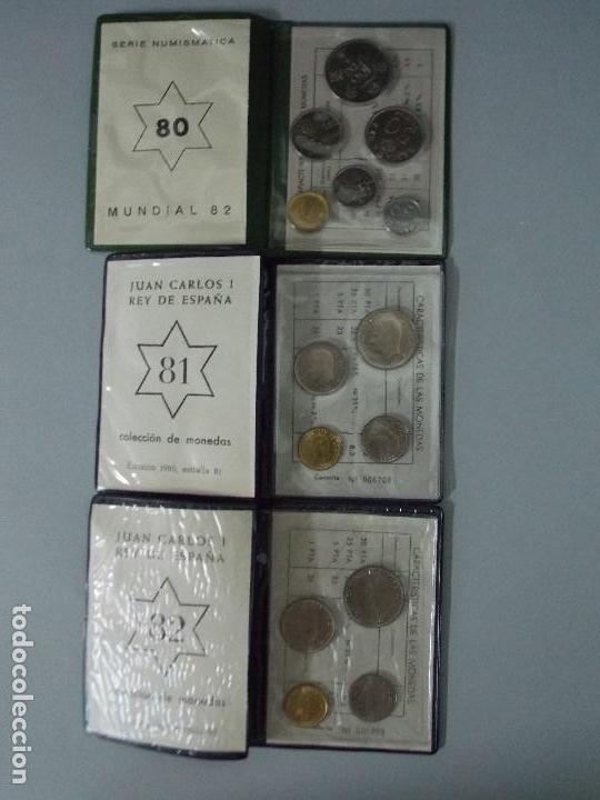 Monedas Juan Carlos I: 3 CARTERAS MONEDAS MUNDIAL FUTBOL ESPAÑA 82, AÑO 1980, ESTRELLA * 80, 81, 82... L96 - Foto 2 - 170175300