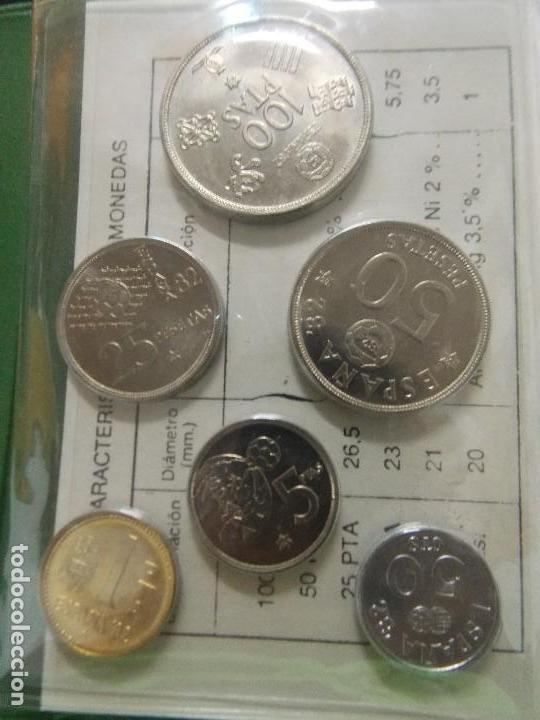 Monedas Juan Carlos I: 3 CARTERAS MONEDAS MUNDIAL FUTBOL ESPAÑA 82, AÑO 1980, ESTRELLA * 80, 81, 82... L96 - Foto 5 - 170175300