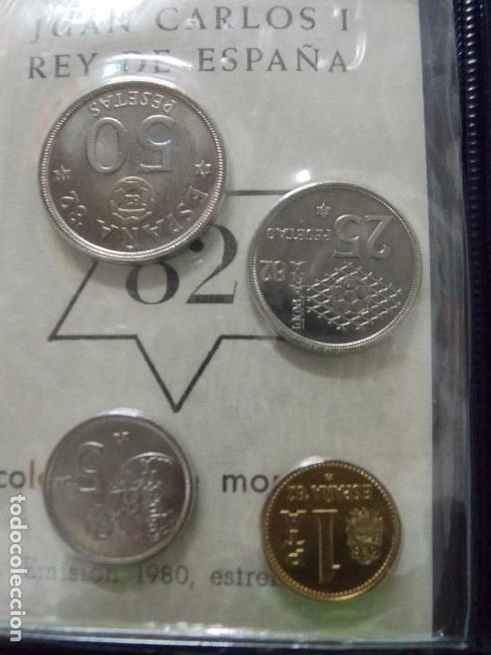 Monedas Juan Carlos I: 3 CARTERAS MONEDAS MUNDIAL FUTBOL ESPAÑA 82, AÑO 1980, ESTRELLA * 80, 81, 82... L96 - Foto 8 - 170175300