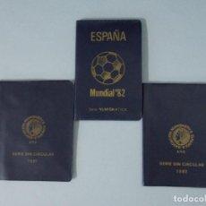Monedas Juan Carlos I: 3 CARTERAS MONEDAS MUNDIAL FUTBOL ESPAÑA 82, AÑO 1980, ESTRELLA * 80, 81, 82... L97. Lote 170176064